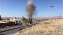 Van Erciş'te PKK bombasının imha edilme anı