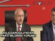 """Kılıçdaroğlu: """"Hiçbir gazetecinin hapse atılmasını istemiyoruz"""""""