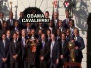 Obama Cleveland Cavaliers'ı kabul etti