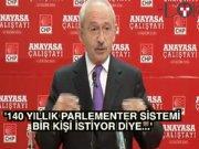 """Kılıçdaroğlu'ndan 'başkanlık' açıklaması: """"Bir kişi için rejim değişmez"""""""