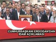 """Erdoğan'dan cenazede idam açıklaması: """"Bununla ilgili kararı Batı veremez, biz veririz"""""""