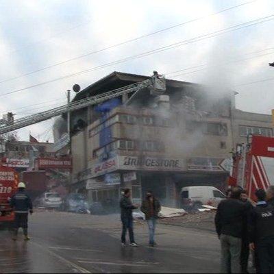 Sultanbeyli'de patlama olay yerinden ilk görüntüler