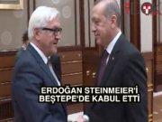 Erdoğan, Almanya Dışişleri Bakanı Steinmeier'le görüştü