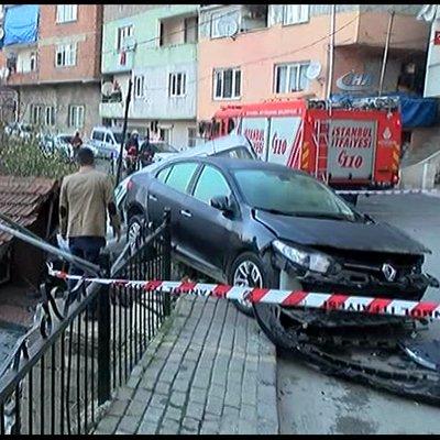 Kamyonun sokaktan geçişi güvenlik kameralarına yansıdı