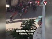 Kumkapı'da yangın: Göçmenler böyle firar etti!
