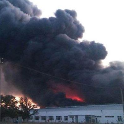 İzmir'deki fabrika yangınından görüntüler