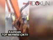 Kadıköy'de denizde patlamamış top mermileri bulundu