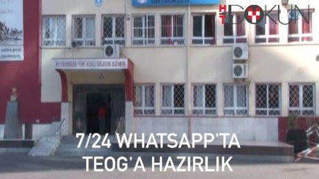 TEOG'a 7/24 WhatsApp'ta hazırlanıyorlar