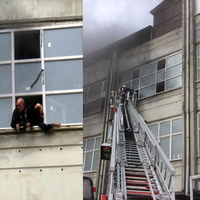 Binada mahsur kalan işçiler böyle kurtarıldı!