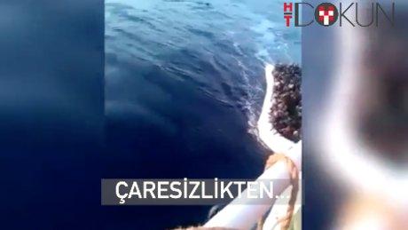 Göçmenler kendi teknelerini batırdı