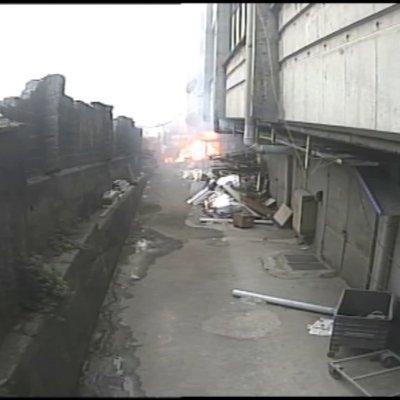 Bayrampaşa'daki yangının çıkış anı