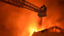 Kırklareli'ndeki yangından görüntüler