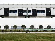 Çin'de ilk hava treni hizmete girdi