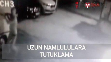 Kameralar önünde şoföre uzun namlulu tehdit