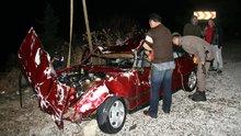 Otomobil denize Uçtu :1 Ölü 1 Yaralı
