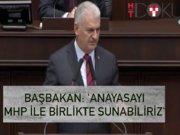 """Başbakan Yıldırım: """"MHP de bu teklifi götürme esnasında arzu ederse..."""""""