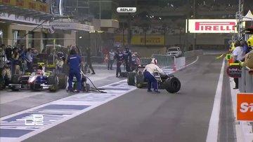 Tamirci yarış pilotunun önüne atladı!