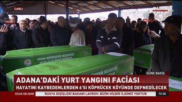 Adana'da hayatını kaybedenler için cenaze töreni