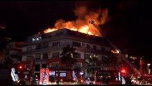 Luis Pedro Cavanda'nın oturduğu binada yangın