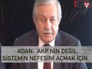 """Celal Adan: """"MHP sistemin nefesini açmak için devrede"""""""