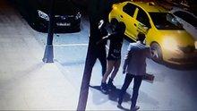 Şişli'de gece kulübü çıkışında çıkan kavga kamerada