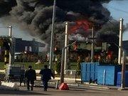 Şantiyede yangın çıktı, metro seferleri durduruldu