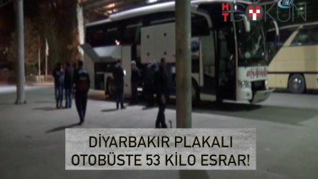 Yolcu otobüsünde 545 kilo esrar!