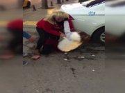 Kadından kadına şiddet kamerada