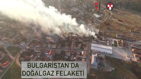 Doğal gaz treni köyde patladı!