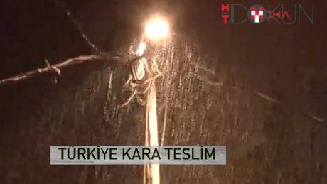 Bitlis'te 73 cm Kartal'da 3 cm kar