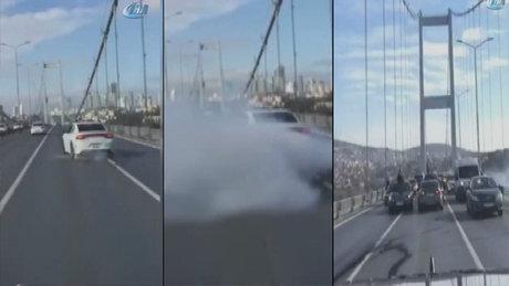 15 Temmuz Şehitler Köprüsü'nde drift yaptılar!