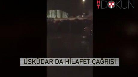 Üsküdar'da belediye aracından 'hilafet' çağrısı