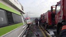 Sirkeci'de BUDO'ya ait deniz otobüsünde yangın