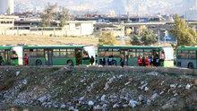 Doğu Halep'ten çıkan tahliye konvoyu batı Halep kırsalına ulaştı