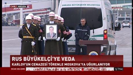 Karlov, devlet töreniyle uğurlanıyor
