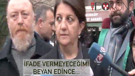 Pervin Buldan ifadesinden sonra serbest bırakıldı