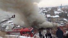 Kütahya'da yangında hayatını kaybeden 2 çocuğun cenazesi çıkarıldı