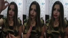 """Engelli kız işaret diliyle """"şehitler ölmez"""" dedi,"""