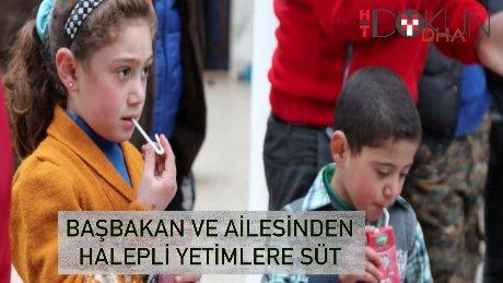 Başbakan'ın ailesinden Halepli yetimlere süt