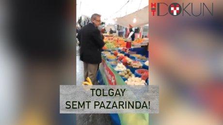 Tolgay pazar alışverişinde