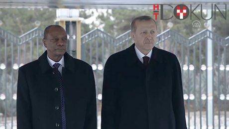 Cumhurbaşkanı Erdoğan, Gine Cumhurbaşkanı Conde'yi resmi törenle karşıladı