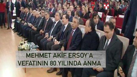 Mehmet Akif Ersoy, vefatının 80. yıldönümünde anıldı