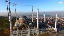 Çamlıca Camii'nde son durum havadan görüntülendi