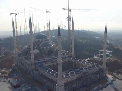 Çamlıca Cami'nin Son Durumu Havadan Görüntülendi