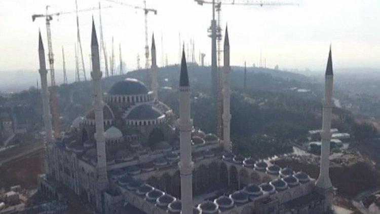 Çamlıca Caminin Son Durumu Havadan Görüntülendi