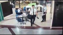 Sarhoş pilot güvenlik kamerasına yakalandı