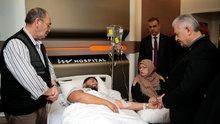 Başbakan Binali Yıldırım yaralananları ziyaret etti