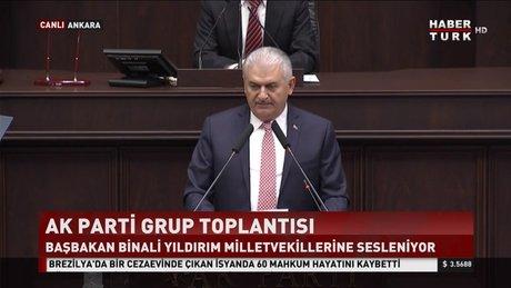 Başbakan, partisinin grup toplantısında konuştu
