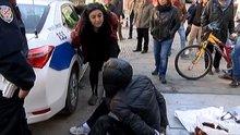 Çığlık atarak kurtardığı bisikleti çalan hırsızı yerin dibine soktu