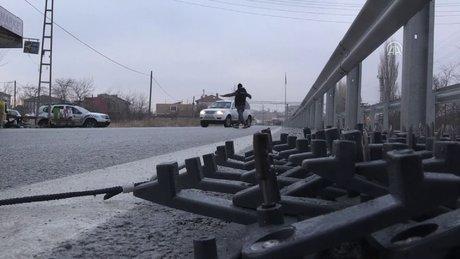 Kırklareli'nde sınıra giden yolda önlemler